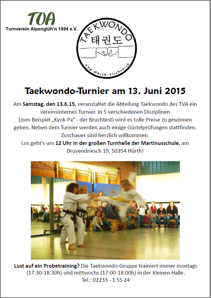 Taekwondo-Turnier am 13. Juni 2015