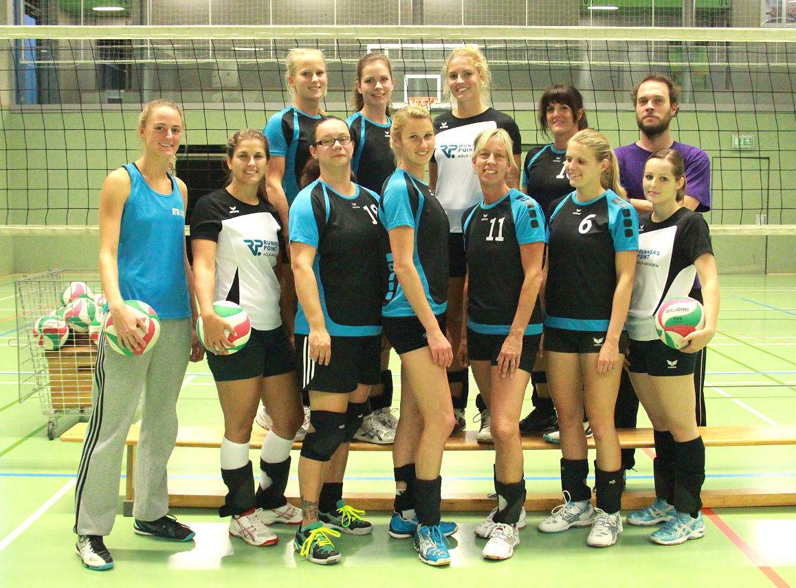 Dies ist das Mannschaftsfoto der 2. Damen vom TVA Fischenich aus der Saison 2014 /2015